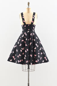 1940s Butterfly Print Pinafore - Pickled Vintage