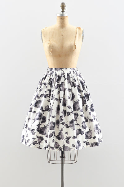 1950s Rose Print Skirt - Pickled Vintage