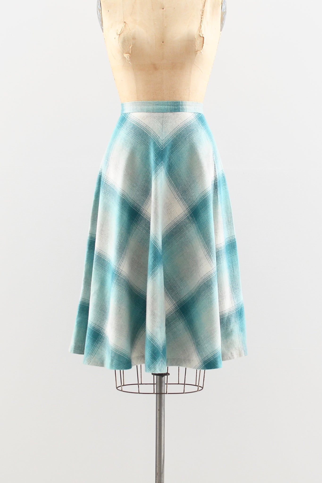 1970s Chevron Wool Skirt - Pickled Vintage