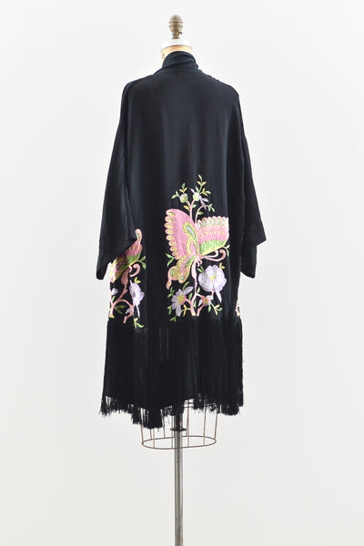 1920s Embroidered Robe Kimono - Pickled Vintage