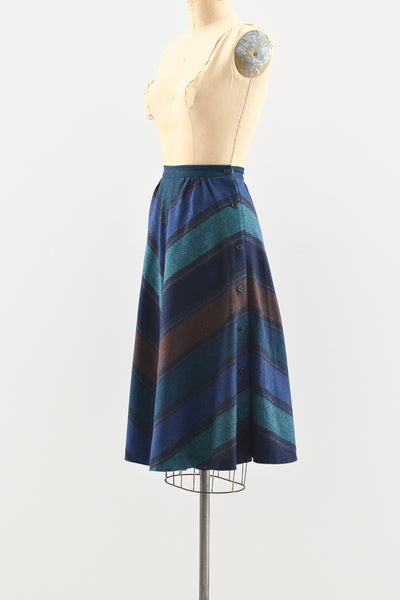 Side Button Skirt - Pickled Vintage