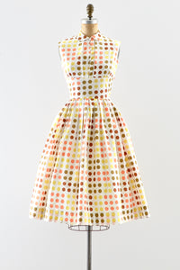 1950s Polka Dot Dress - Pickled Vintage