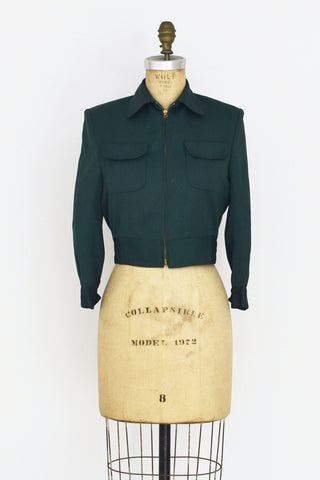 1940s Hunter Cropped Jacket - Pickled Vintage