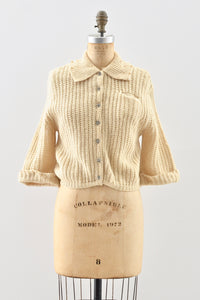 1950s Cropped Cardigan - Pickled Vintage