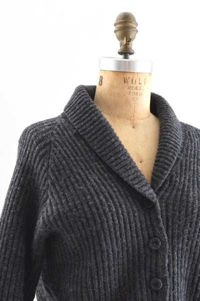 Shawl Collar Cardigan Sweater - Pickled Vintage