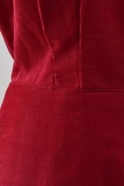 1950s Red Corduroy Dress - Pickled Vintage