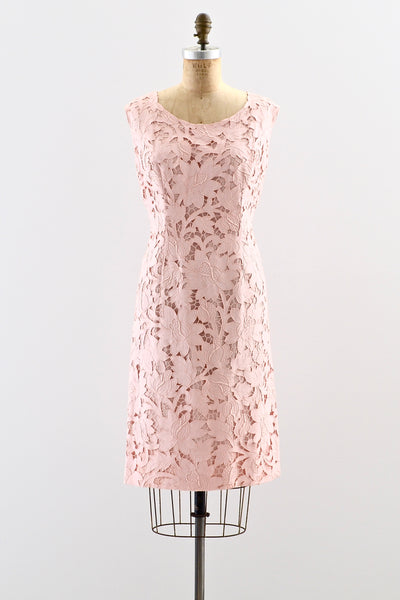 1960s Pink Cutout Dress - Pickled Vintage