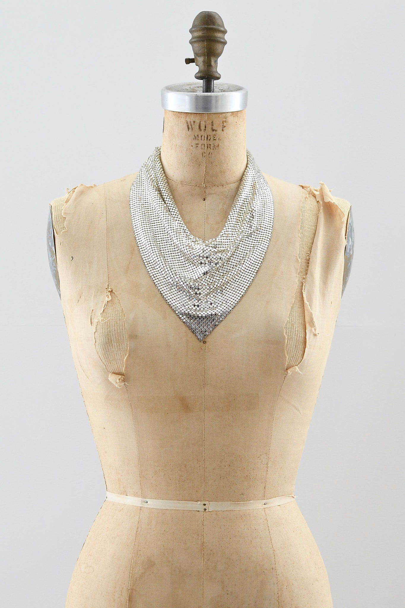 Vintage Whiting & Davis Mesh Necklace - Pickled Vintage