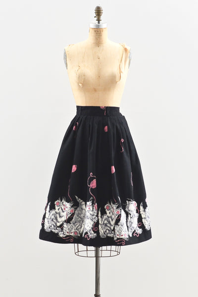 1950s Novelty Print Skirt - Pickled Vintage
