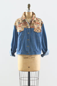 Tapestry Denim Jacket - Pickled Vintage
