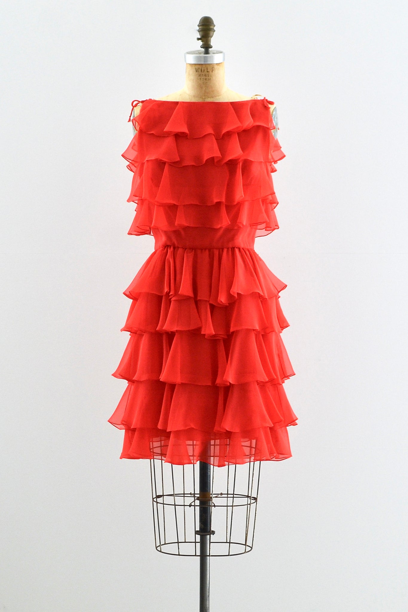 60s Ruffled Dress