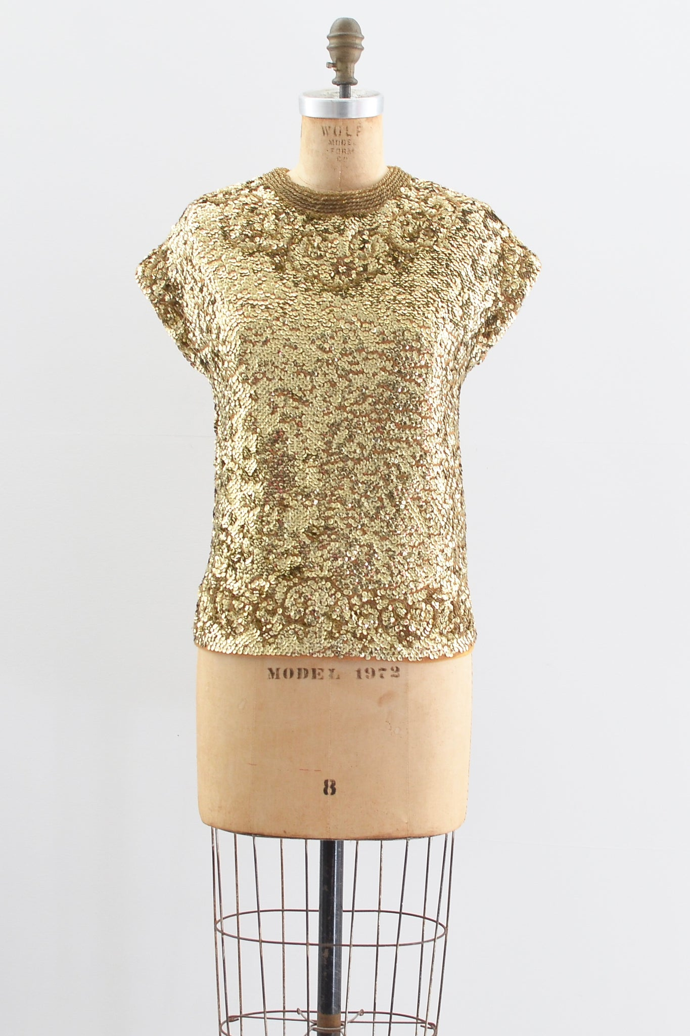 1950s Gold Sequin Top