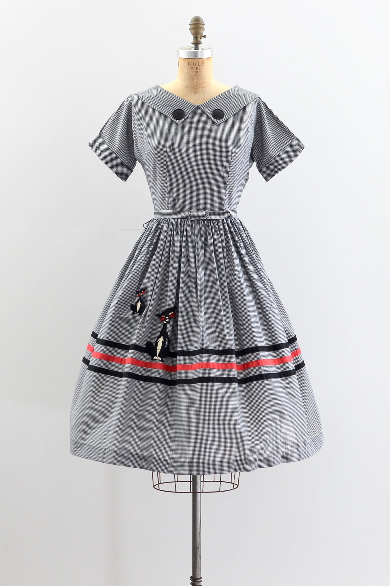 1950s Gingham Dress - Pickled Vintage