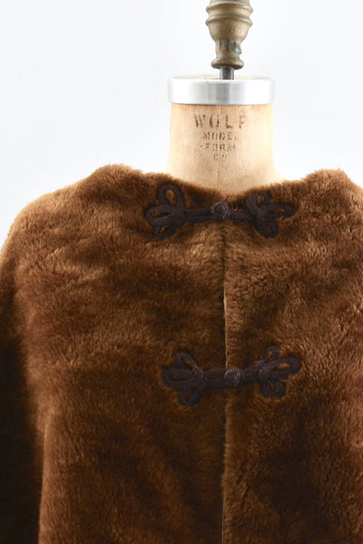 Faux Fur Cape - Pickled Vintage