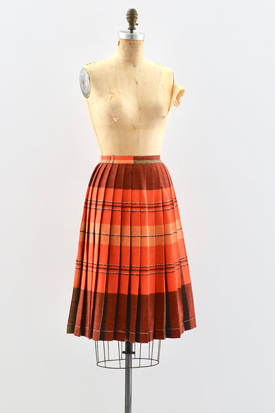 1960s Pleated Skirt - Pickled Vintage