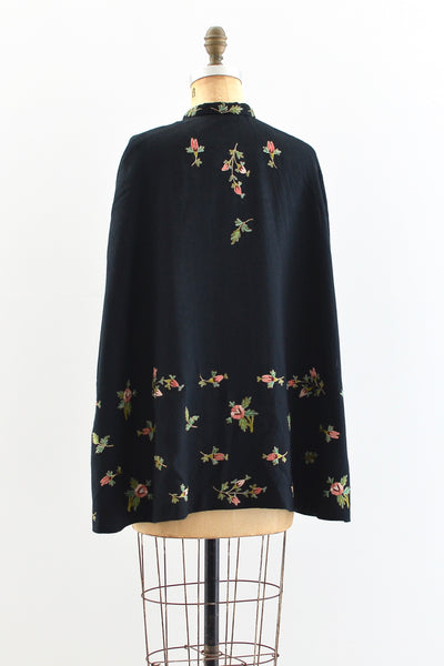 1950s Embroidered Cape - Pickled Vintage