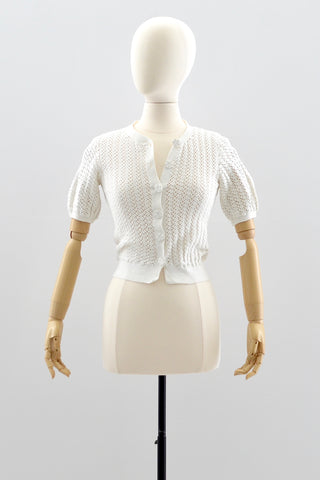 1930s Crochet Cropped Top