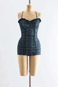 1950s Plaid Swimsuit - Pickled Vintage