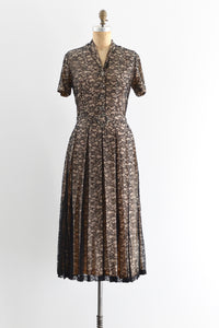 1940s Lace Dress - Pickled Vintage