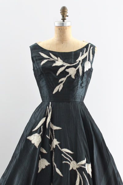 Sharkskin Silk Dress