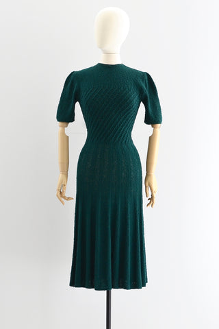 Hunter Green Knit Dress