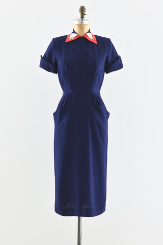 Navy Blue Carl Naftal Dress