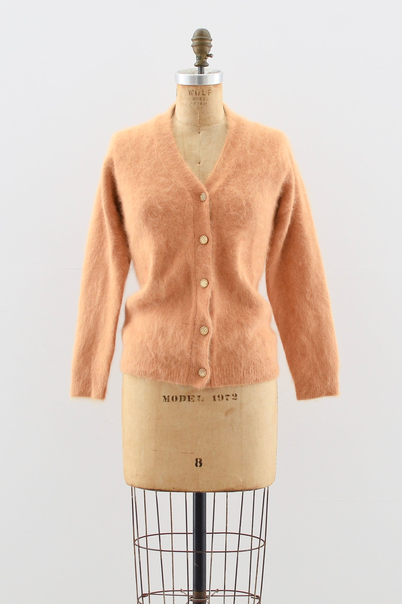 Orange Sorbet Angora Sweater - Pickled Vintage