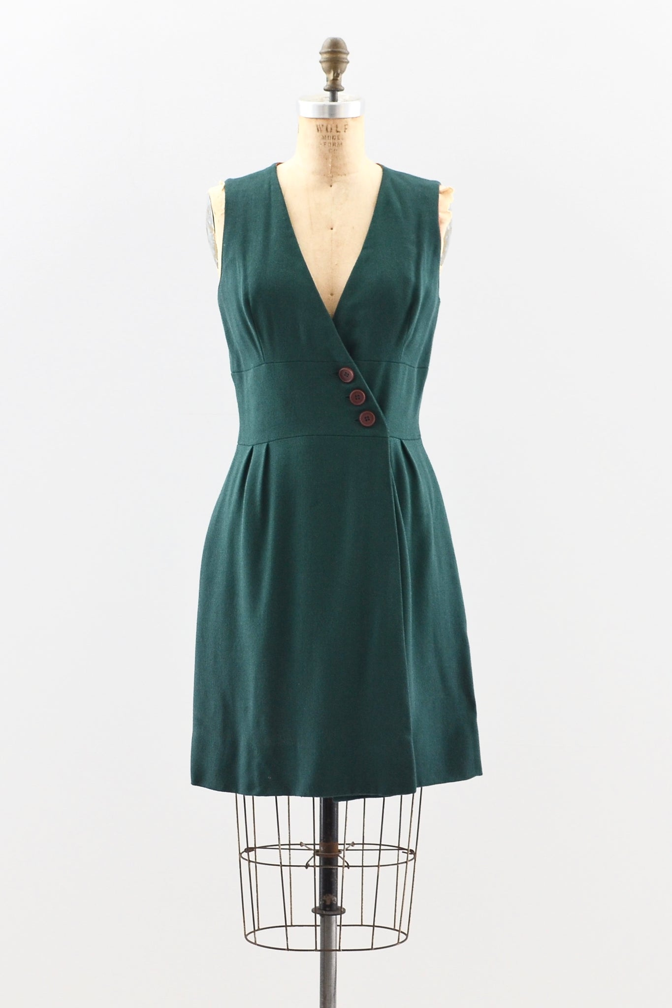 Forest Green Jumper Dress - Pickled Vintage