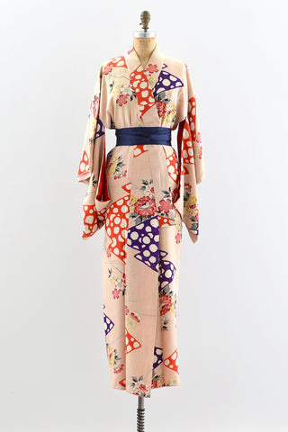 1940s Dream Play Kimono - Pickled Vintage