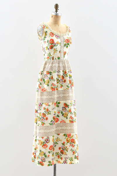 Lanz Floral Dress - Pickled Vintage