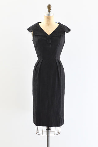 1950s Jacquard Cotton Dress