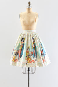 Vintage Novelty Duet Print Skirt - Pickled Vintage