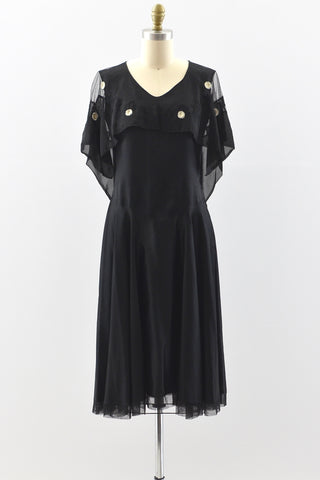 1920s Capelet Collar Dress - Pickled Vintage