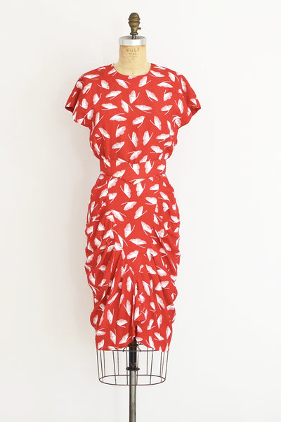 Ginkgo Print Dress - Pickled Vintage