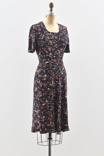 Carnival Print Dress - Pickled Vintage