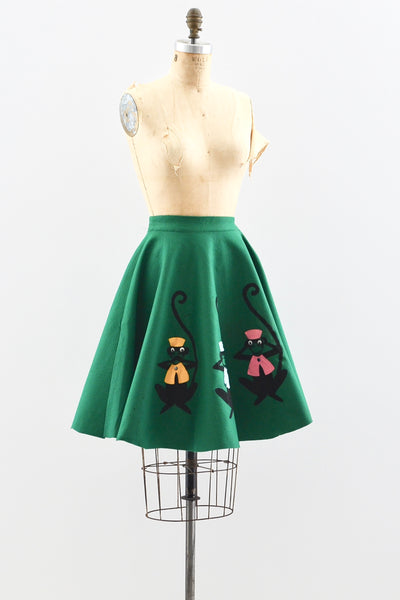 50s Wise Monkeys Skirt - Pickled Vintage