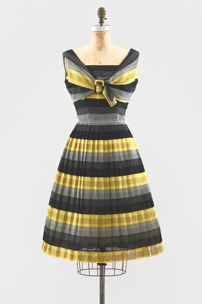 1950s Striped Dress - Pickled Vintage