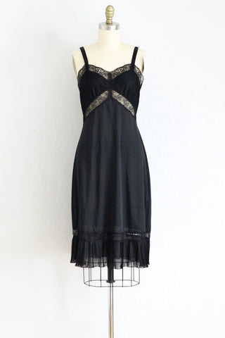 Noir Nightgown Slip - Pickled Vintage