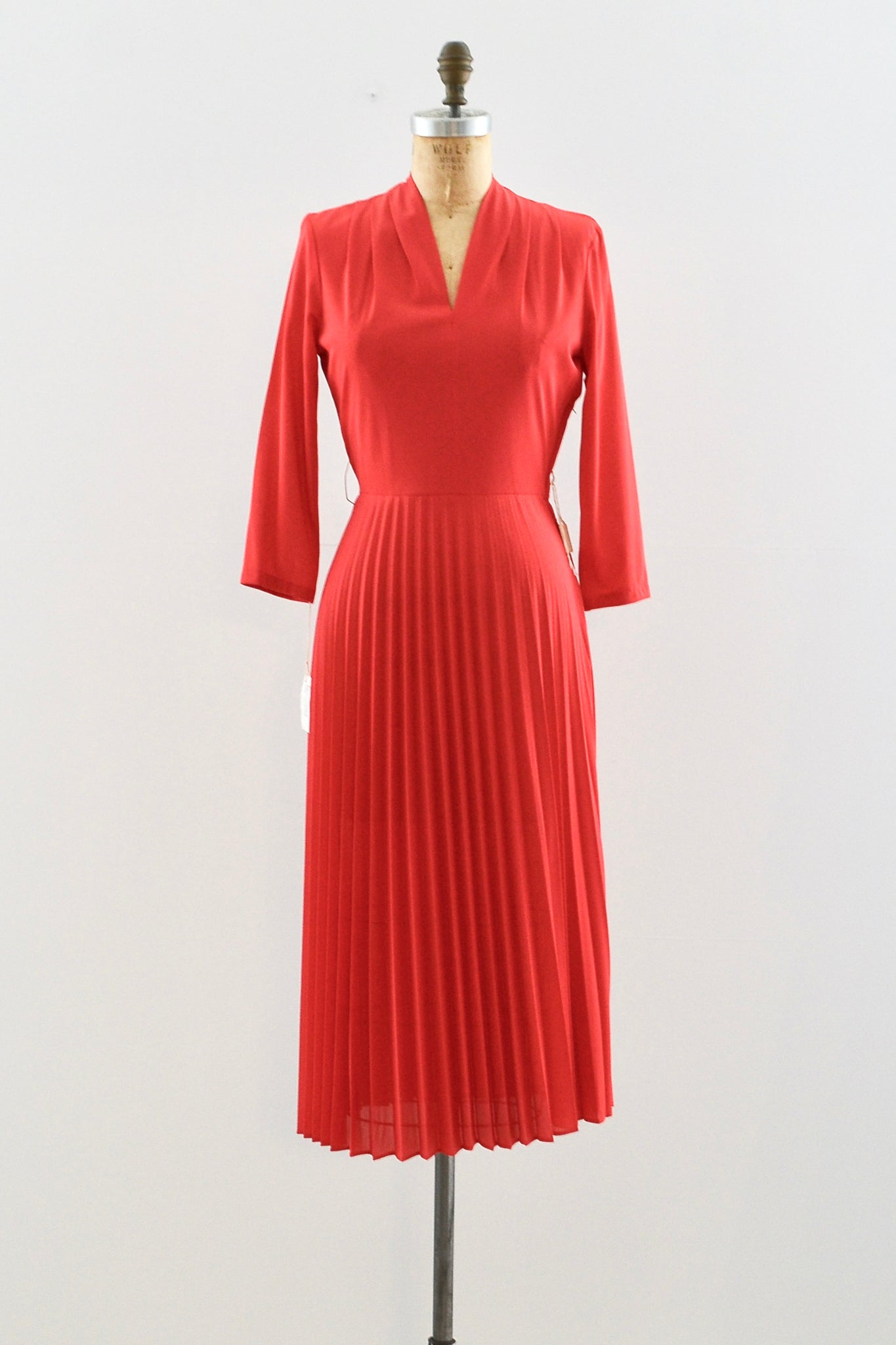 50s Knife Pleat Dress - Pickled Vintage