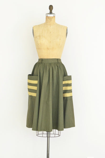 Army Green Skirt - Pickled Vintage