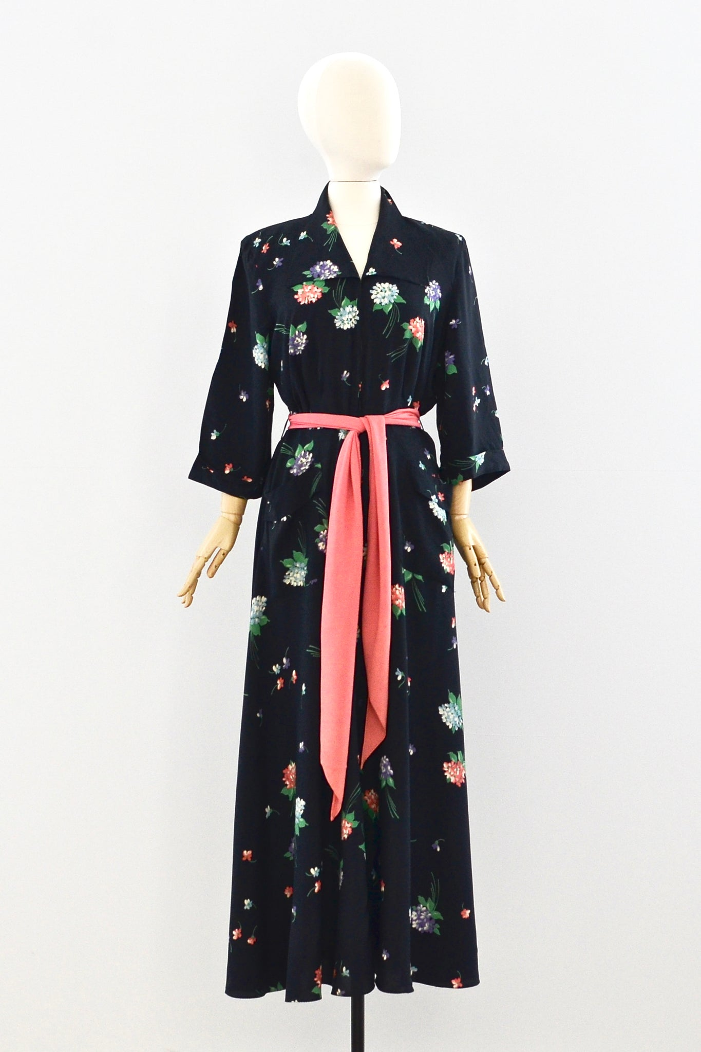 1940s Saybury Maxi Dress - Pickled Vintage