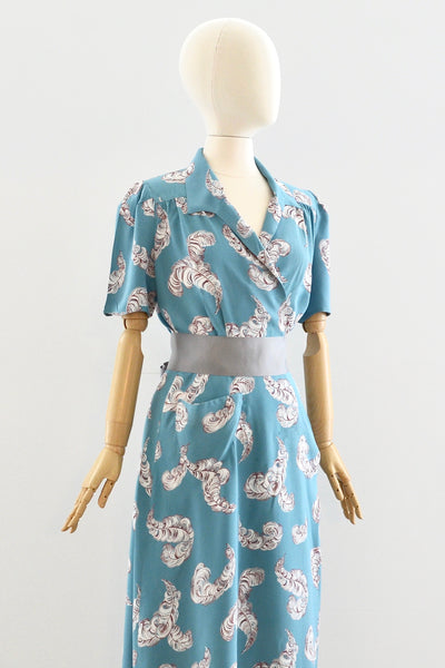 1940s Saybury Feather Dress - Pickled Vintage
