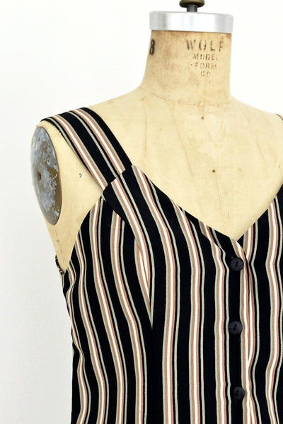 1990s Striped Dress - Pickled Vintage