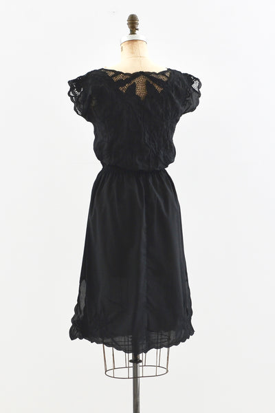 Cutwork Embroidered Dress - Pickled Vintage