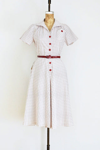 1930s Red Culotte Romper - Pickled Vintage