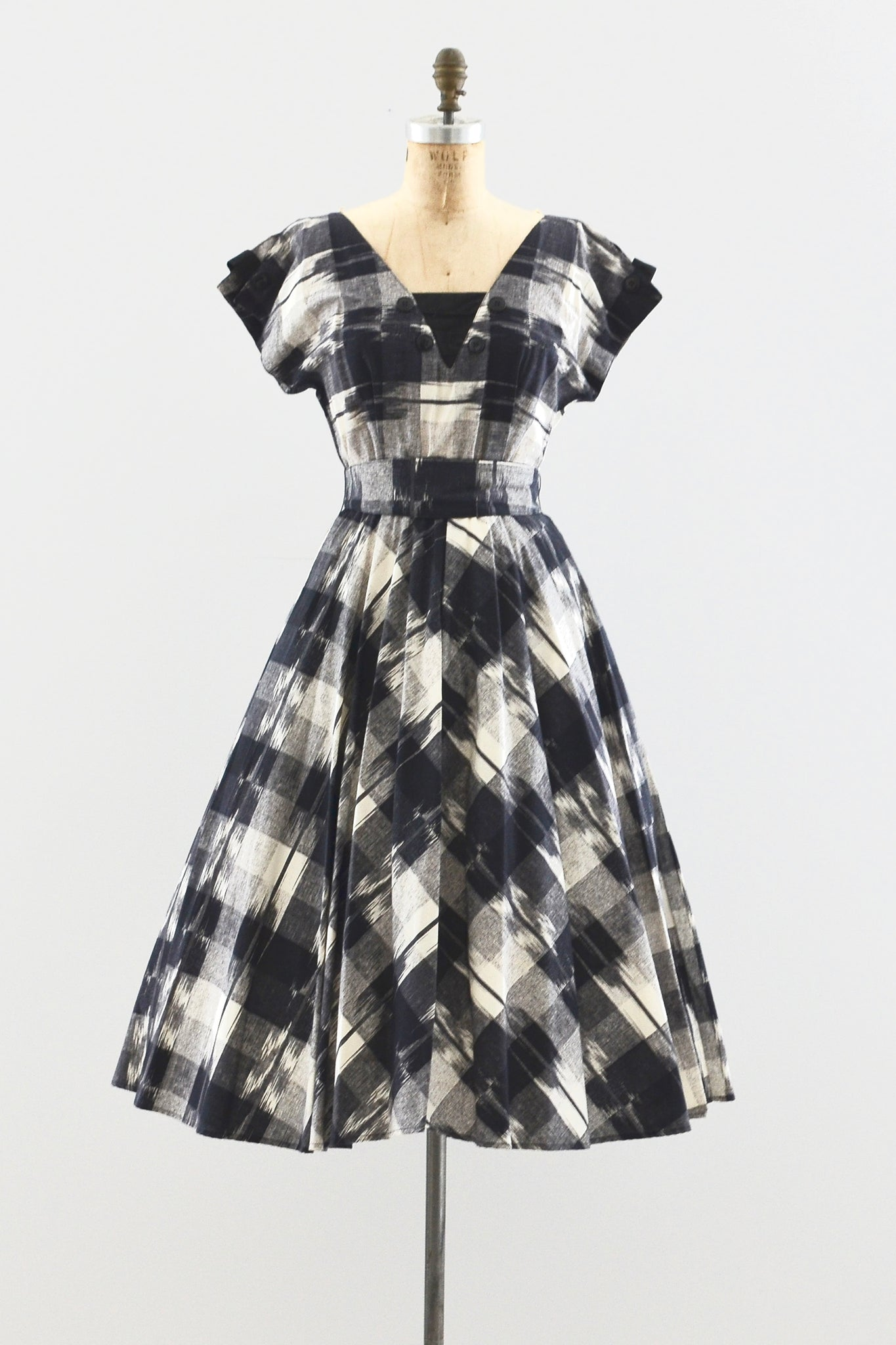 Foxy Lady Ikat Dress - Pickled Vintage