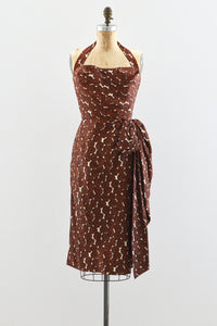 1950s Silk Sarong Style Dress - Pickled Vintage