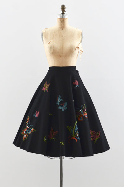 Butterfly Felt Skirt - Pickled Vintage