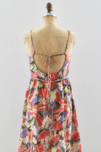 80s Open Back Sundress