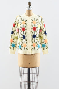 60s Embroidered Cardigan